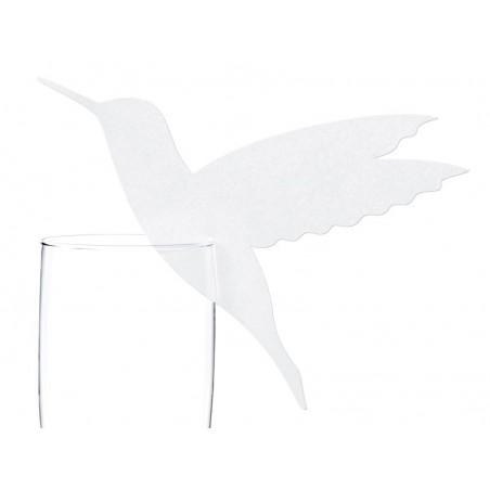 10 marques places en forme d'oiseau à placer sur le verre