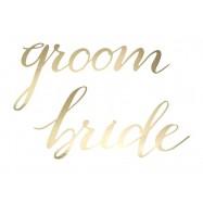 Pancarte bride and groom