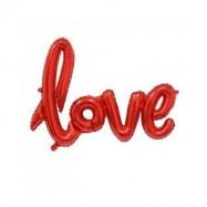 Ballon alumium love rouge