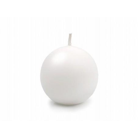 Bougie sphère mat blanche de 4,5 cm