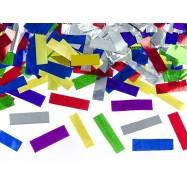 Confettis rectangulaires multi-couleur et métalique (canon 60 cm)