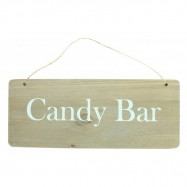 "Pancarte bois ""Candy Bar"""
