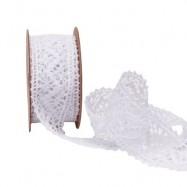 5 m ruban dentelle blanche 3,6 cm
