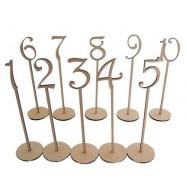 Numéro en bois sur pique de 1 à 10