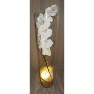 Location vase haut avec orchidée et LED (couleur au choix)