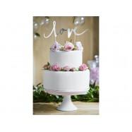 Déco gâteau Love argent gateau