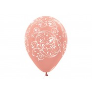 Ballon rose gold 30 cm avec filigrane