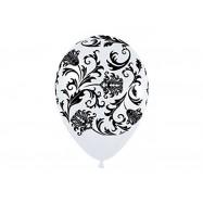 Ballon 30 cm blanc et noir