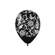 Ballon 30 cm noir et blanc