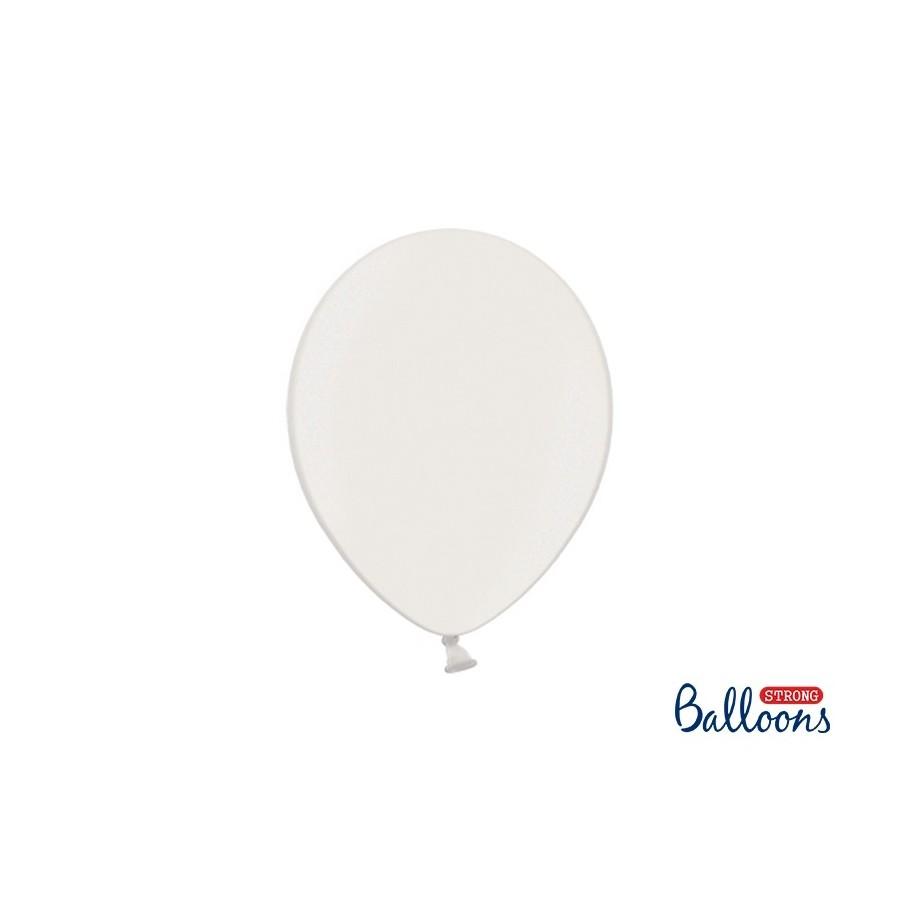 Ballon 27 cm couleur métallique nacré