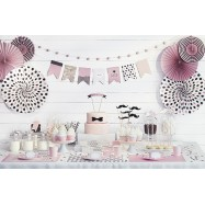 Rosette en papier sweets candy bar