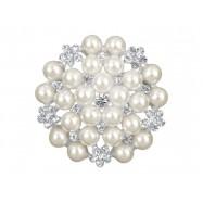 Grande broche avec des perles