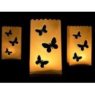 10 sacs lanternes avec trois papillons