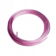 3 m de fil de fer de 2 mm rose clair