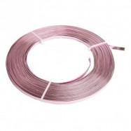 3 m de fil de fer rose clair de 5 mm plat