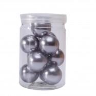 10 perles grises de 2,8 cm