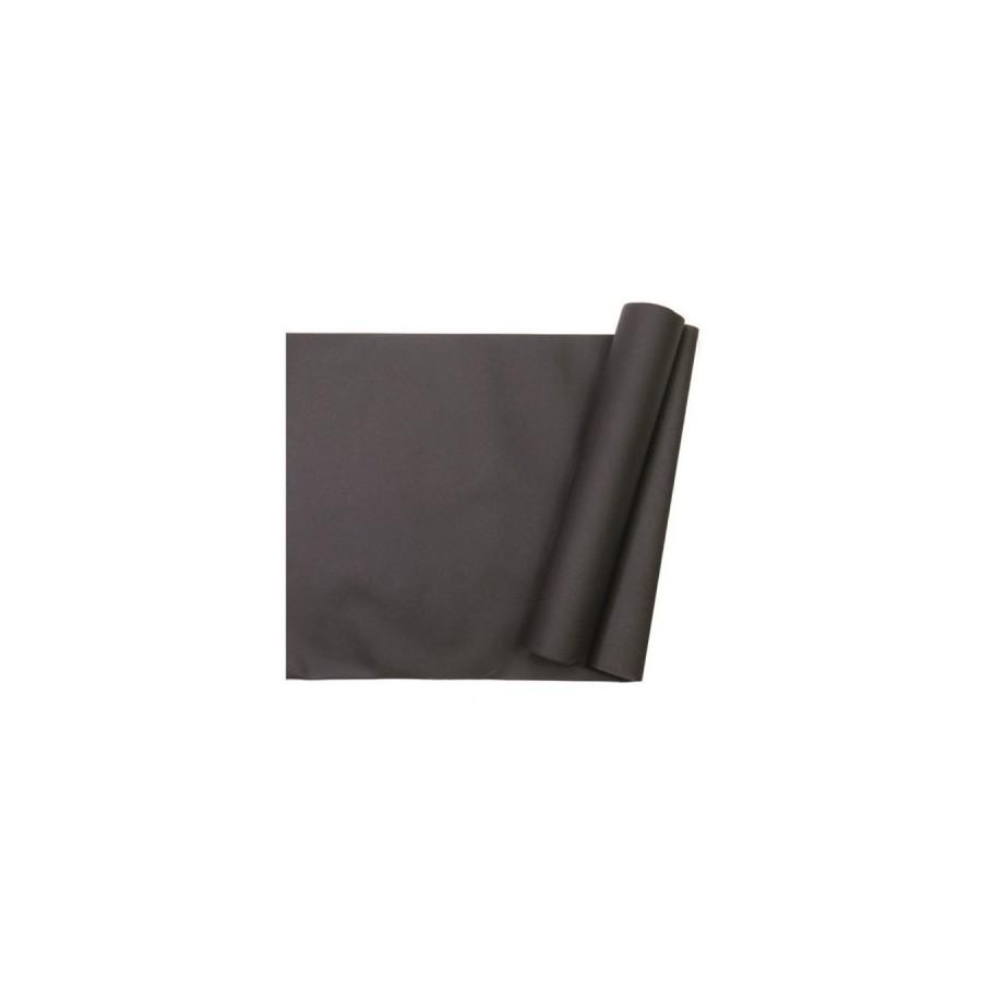 10 m de chemin de table intissé noir