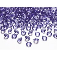 100 cristaux diamant violet 12 mm