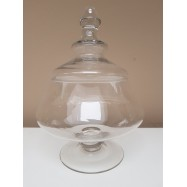 Location bonbonnière mini boule sur pied en verre