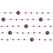 5 guirlandes de 1 m bordeaux de perles