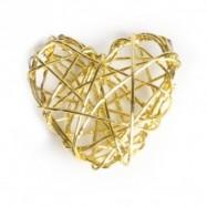 10 coeurs en fil de fer or