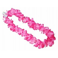 collier hawaien rose