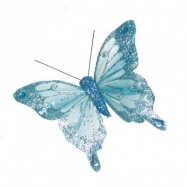 10 papillons 10 cm bleu