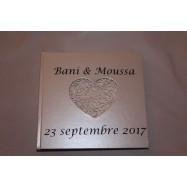 Personnalisation livre d'or Bani et Moussa