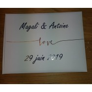 Livre d'or personnalisation Guest Book or feuillage magali