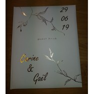 Livre d'or personnalisation Guest Book or feuillage carine