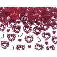 Confettis coeurs rouge (modèle 1)