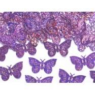 Confettis en papillon rose