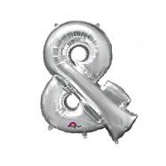 Ballon lettre argent 40 cm &