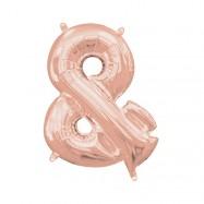 Ballon lettre or rose 40 cm &