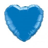 Ballon métallique bleu coeur 45 cm
