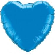 Ballon métallique bleu coeur 80 cm