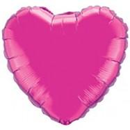 Ballon métallique fuchsia coeur 80 cm