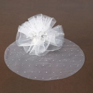 25 tulles blancs avec strass