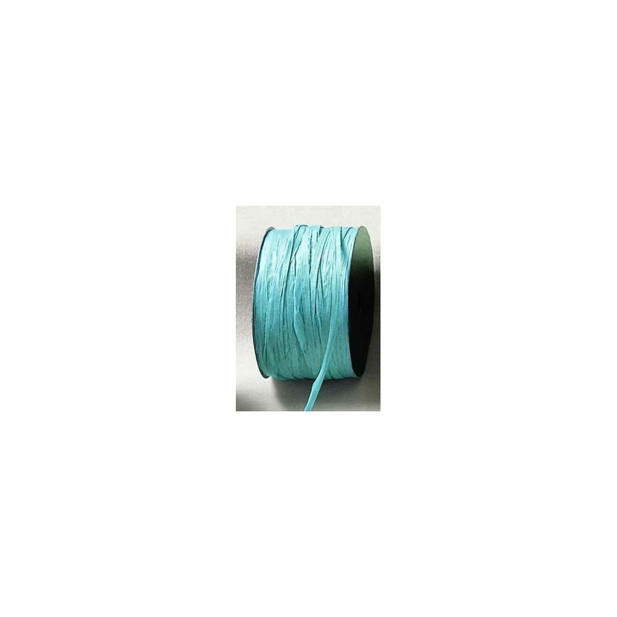 1 m de raphia turquoise