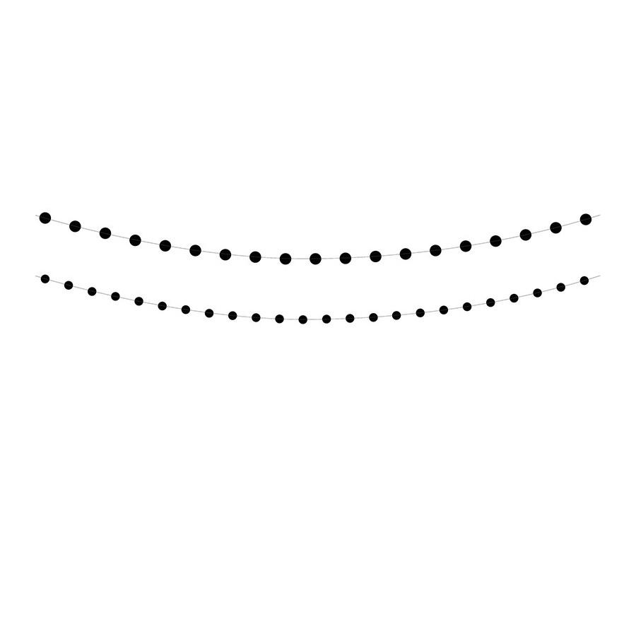 Guirlande ronds noirs