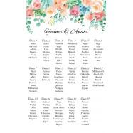 Plan de table avec le haut fleurie