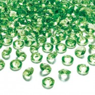 10 cristaux diamant vert 20 mm