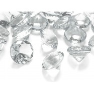 5 cristaux en forme de diamant de 30 mm