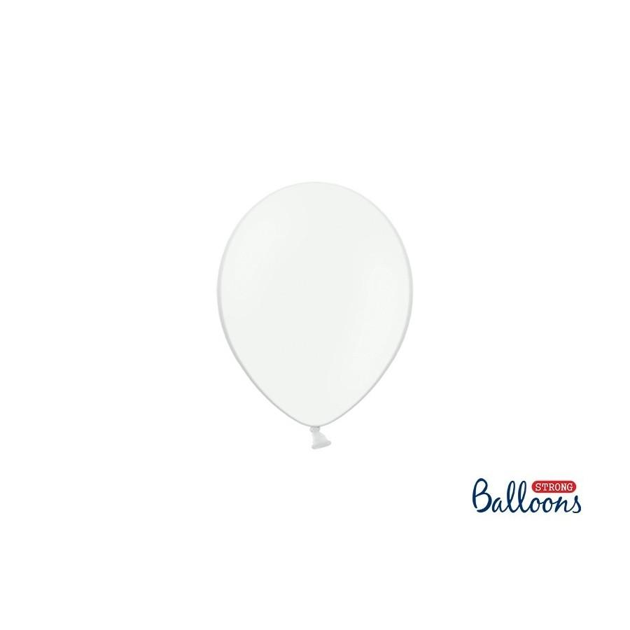 Ballon 12 cm pastel blanc