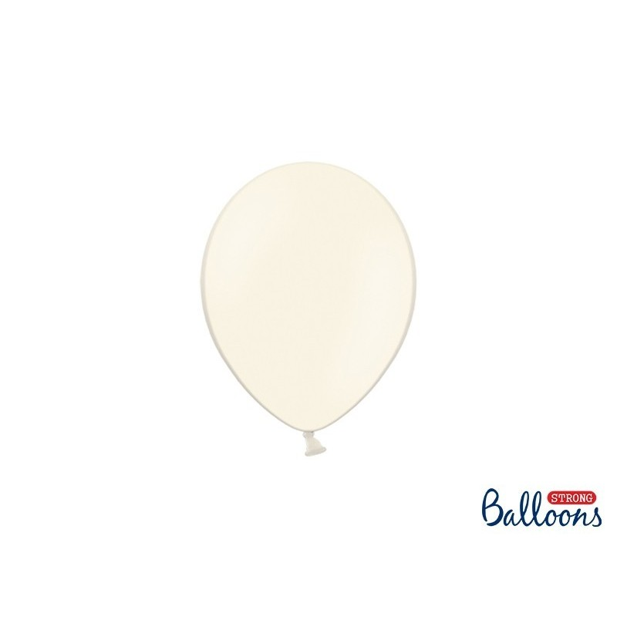 Ballon 12 cm pastel crème