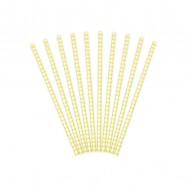 10 pailles avec losange jaune