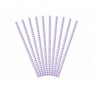 10 pailles avec losange lilas