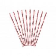 10 pailles avec losange rouge