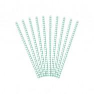 10 pailles avec losange turquoise