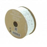 2 m ruban dentelle adhésive blanche 2,5 cm rouleau